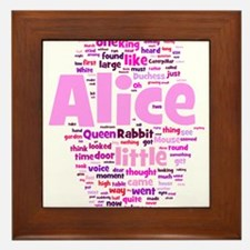 Alice in Wonderland Word Art Framed Tile