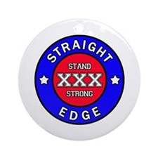 Straightedge Round Ornament