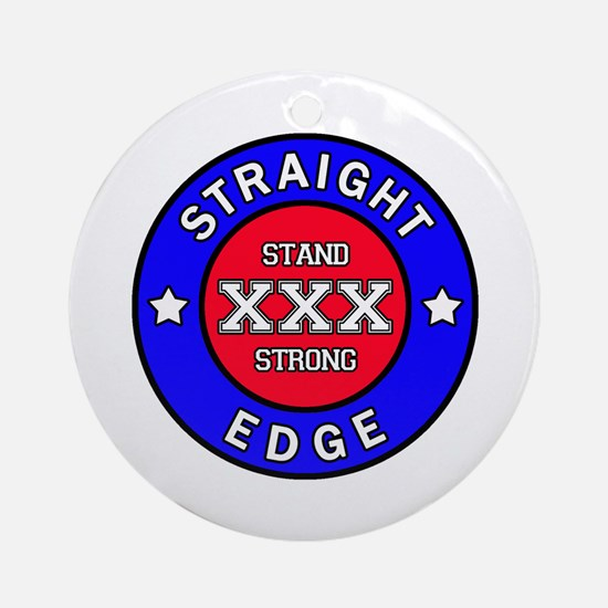 Straightedge Round Ornament
