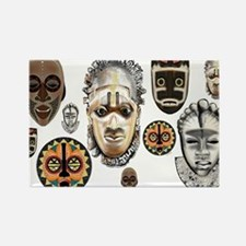 Cute African mask Rectangle Magnet