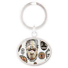 Cute Mask Oval Keychain