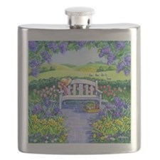 Spring Garden Bench Flask