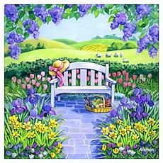 Spring Garden Bench Poster