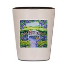 Spring Garden Bench Shot Glass