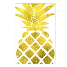 Faux Gold Foil Pineapple  Postcards (Package of 8)