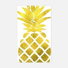Faux Gold Foil Pineapple  Decal
