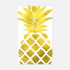 Faux Gold Foil Pineapple  Sticker (Rectangle)