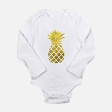 Faux Gold Foil Pineapple Body Suit