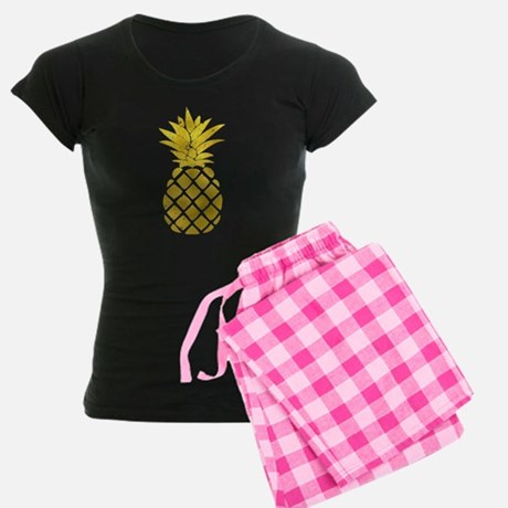 Faux Gold Foil Pinapple Pajamas