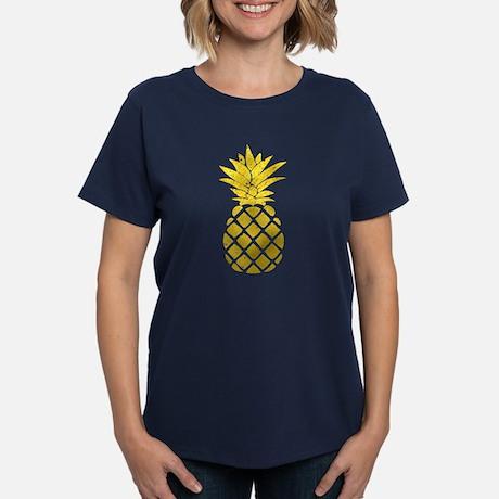 Gold Pinnapple Womens Classic T-Shirt