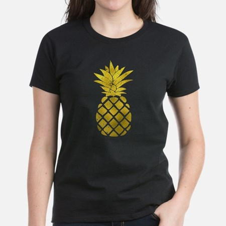 Faux Gold Foil Pineapple