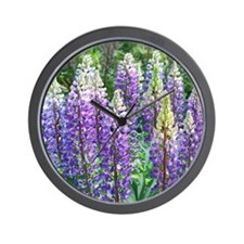 Maine Lupines Wall Clock