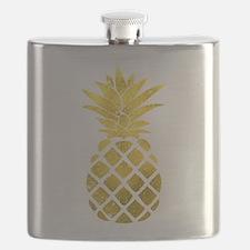 Faux Gold Foil Pineapple Flask
