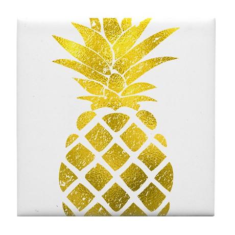 Gold Pineapple Tile Coaster