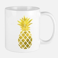 Faux Gold Foil Pineapple Mugs