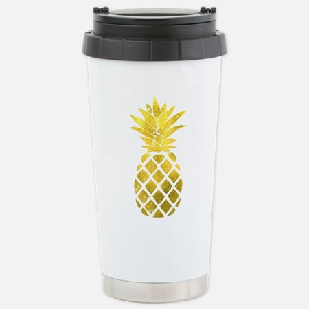 Faux Gold Foil Pineapple