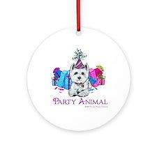 Westie Party Celebration Ornament (Round)