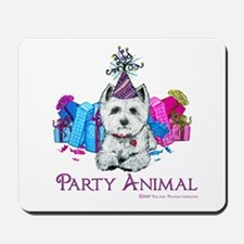 Westie Party Celebration Mousepad