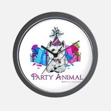 Westie Party Celebration Wall Clock