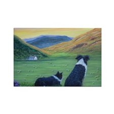Cute Border collie Rectangle Magnet