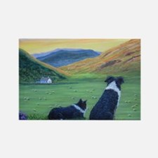 Cute Border collies Rectangle Magnet