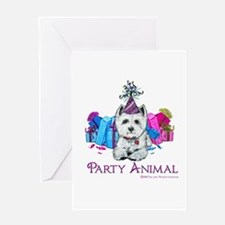 Westie Party Celebration Greeting Card