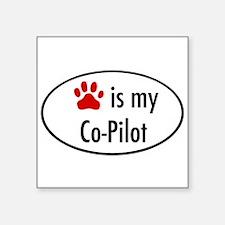 "Cute God is my pilot Square Sticker 3"" x 3"""