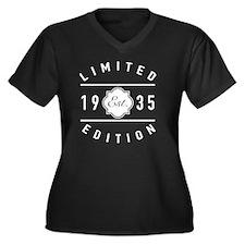 1935 Limited Women's Plus Size V-Neck Dark T-Shirt
