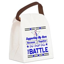 Male Breast Cancer Hero Canvas Lunch Bag