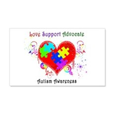 Autism Shining Heart Wall Decal