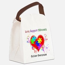 Autism Shining Heart Canvas Lunch Bag