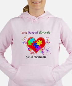 Autism Shining Heart Women's Hooded Sweatshirt
