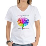 Autism support Womens V-Neck T-shirts