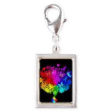 Autism Spectrum Tree Silver Portrait Charm