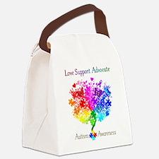 Autism Spectrum Tree Canvas Lunch Bag