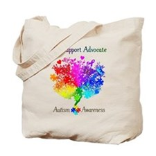 Autism Spectrum Tree Tote Bag