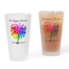 Autism Spectrum Tree Drinking Glass