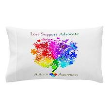 Autism Spectrum Tree Pillow Case