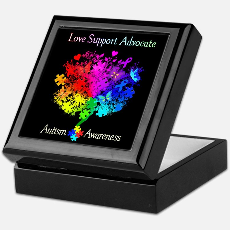 Autism Spectrum Tree Keepsake Box