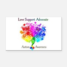 Autism Spectrum Tree Rectangle Car Magnet