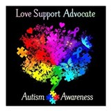 Autism Square Car Magnets
