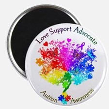 Autism Spectrum Tree Magnet