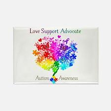 Autism Spectrum Tree Rectangle Magnet