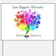 Autism Spectrum Tree Yard Sign