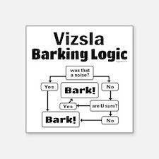 "Vizsla Logic Square Sticker 3"" x 3"""