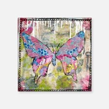 "butterfly adventure Square Sticker 3"" x 3"""