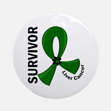Liver Cancer Survivor 12 Ornament (Round)