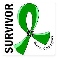 "Spinal Cord Injury Survi Square Car Magnet 3"" x 3"""
