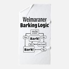 Weim Bark Logic Beach Towel