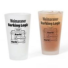 Weim Bark Logic Drinking Glass